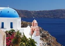 希腊, Santorini视图 免版税库存图片