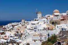 希腊, Santorini视图 库存照片