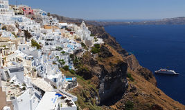 希腊, Santorini视图 图库摄影
