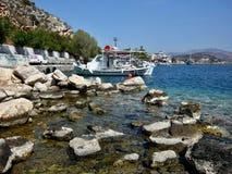 希腊, Tolo在港口 库存图片