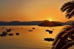 希腊, Tolo日出 免版税库存照片