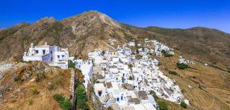 希腊-塞里福斯岛传统村庄  库存照片
