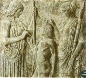 希腊-大约1960年:在500 Drachmai 1960年钞票的上帝得墨忒耳f 图库摄影