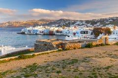 希腊 米科诺斯岛 少许威尼斯 免版税库存图片