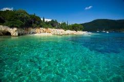 希腊-莱夫卡斯州-梅加尼西岛海岛 免版税库存图片