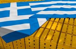 希腊黄金储备股票 免版税库存照片