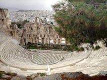 希腊 雅典 160 174埃迪克BC建立了herodes odeon 免版税图库摄影