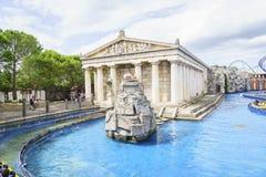 希腊主题的区域-欧罗巴公园,德国 免版税库存照片