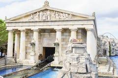 希腊主题的区域-欧罗巴公园,德国 库存照片