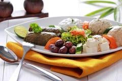 希腊素食食物混合pikilia 库存照片