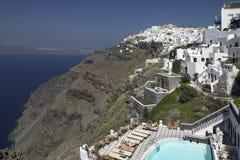 希腊- Santorini - Cyclades 免版税库存图片