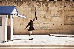 希腊evzones在雅典 库存图片