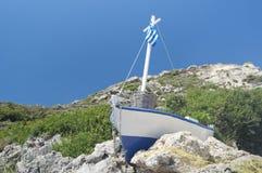 希腊fishboat 免版税库存照片