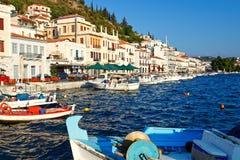 希腊gytheio 免版税库存图片