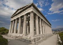 希腊hephaisteion 库存图片