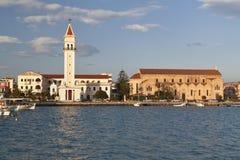 希腊ionio海岛海运zakynthos 免版税库存图片