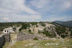 希腊kastro山thasso村庄 库存照片