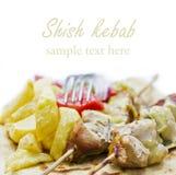 希腊kebab shish souvlaki 图库摄影