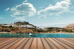 希腊lindos 免版税库存照片