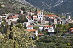 希腊mani传统村庄 免版税库存图片