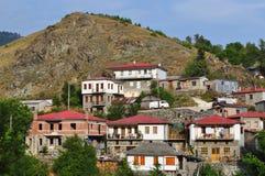 希腊milea村庄 图库摄影