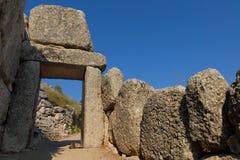 希腊mycenae 图库摄影