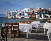 希腊mykonos视图 图库摄影