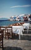希腊mykonos视图 库存图片