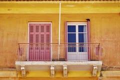 希腊Nafplion,房子的阳台 免版税库存图片