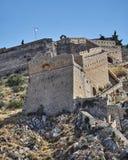 希腊Nafplion, Palamidi中世纪城堡 免版税图库摄影