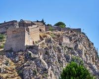 希腊Nafplion, Palamidi中世纪城堡 免版税库存照片