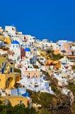 希腊oia santorini视图 库存照片