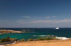 希腊paros seaview 图库摄影