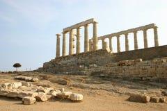 希腊poseidon寺庙 免版税库存照片