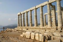 希腊poseidon寺庙 免版税库存图片