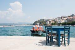 希腊pylos 库存照片