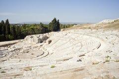 希腊s siracusa剧院 免版税库存图片