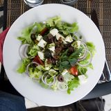 希腊salat 库存图片