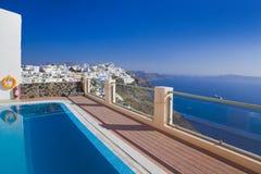 希腊santorini视图 库存照片