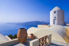 希腊santorini视图 免版税库存图片