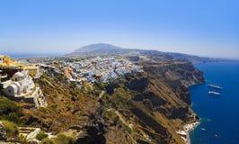 希腊santorini视图 图库摄影