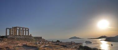 希腊sounion 库存图片