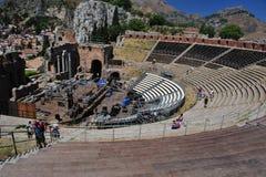 希腊taormina剧院 免版税库存图片
