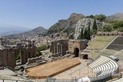 希腊taormina剧院 免版税库存照片
