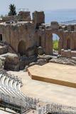 希腊taormina剧院 图库摄影