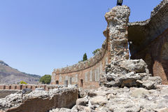 希腊taormina剧院 库存图片