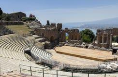 希腊taormina剧院 免版税图库摄影