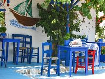 希腊taverna 库存图片