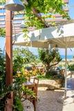 希腊taverna 免版税库存照片