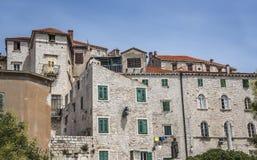 希贝尼克议院,一个普遍的旅游目的地在克罗地亚 图库摄影